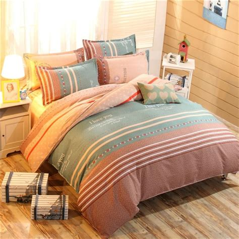 Plain Bed Linen Sets ୧ʕ ʔ୨ Cheap Grass Printed Comforter Comforter White Plain Bedlinen Cozy Cotton Bedding