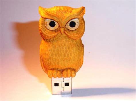 Handmade Owl - handmade wooden owl usb drive