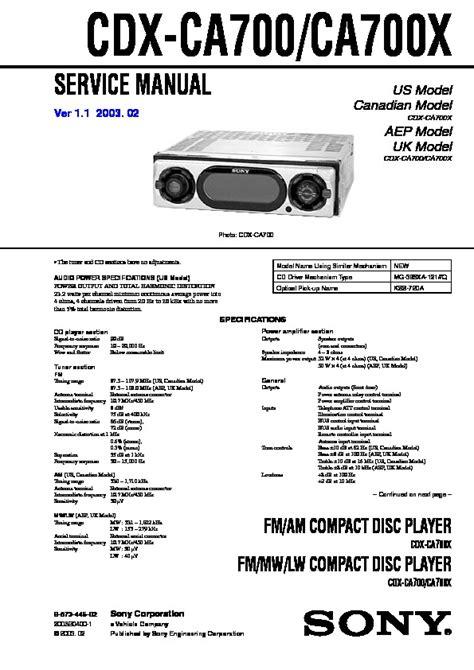 car stereo wiring diagram sony cdx ca700x wiring diagram