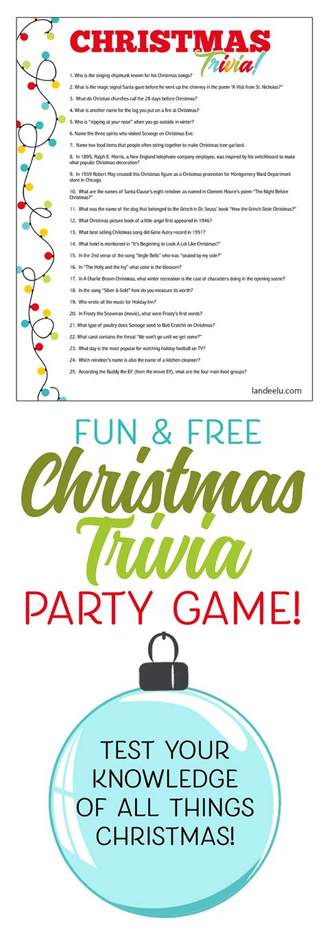 printable christmas party quiz christmas trivia game perfect for christmas parties