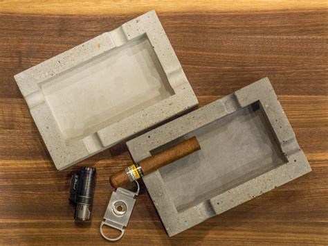 handmade concrete cigar ashtray