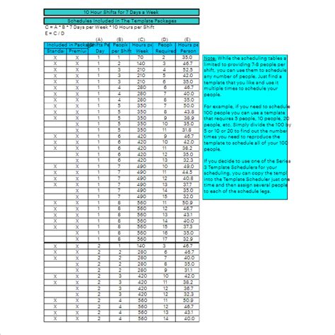 47 Hourly Schedule Templates Free Excel Word Doc Pdf Download 10 Hour Schedule Templates