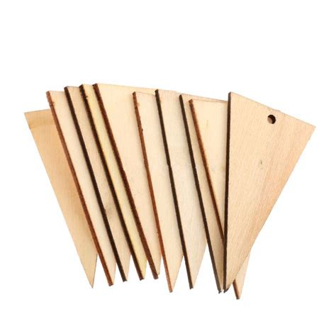 Diy Wooden 3 Cm 50pcs lot 6 3cm sale diy unfinished wooden triangle chips v501021 in from jewelry