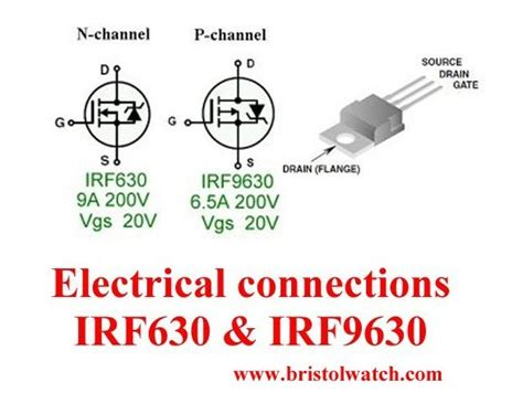 transistor mosfet irf630 n channel power mosfet switching tutorial