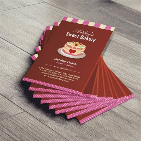 sweet bakery packaging design template white busines card papaer sweet bakery shop custom cakes chocolates pastry