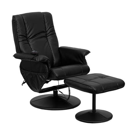 recliner with ottoman leather massaging black bonded leather recliner and ottoman with