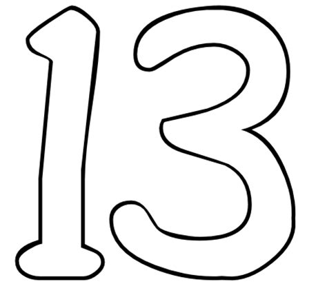 coloring pages for the number 13 color by number printables number 13 color by number org