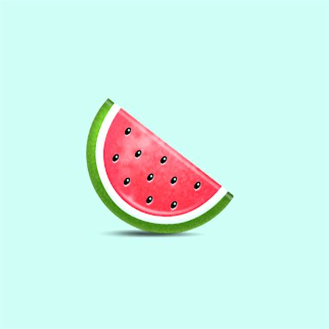 watermelon emoji fruit emoji