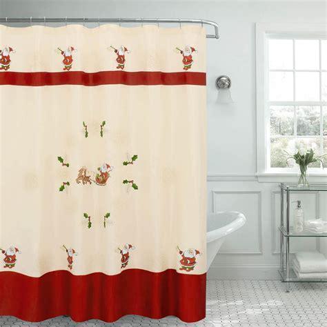 creative shower curtain ideas creative home ideas 70 in x 72 in santa embroidered