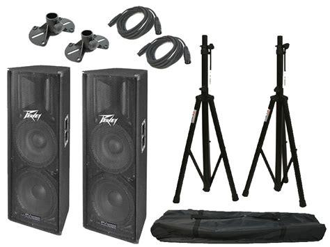 Tripod Xlr peavey pro audio 2 pv215d pro audio dj powered 800 watt