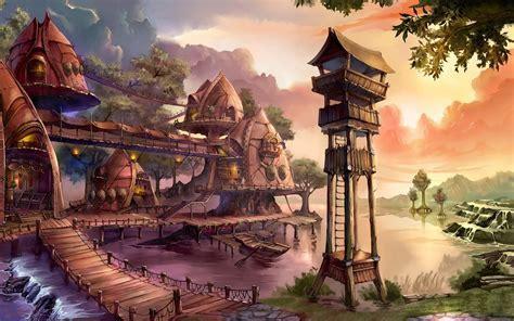 Fantasy village wallpaper   AllWallpaper.in #6664   PC   en
