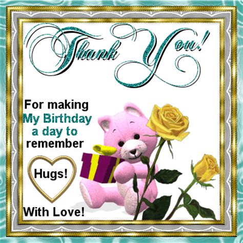 Thank You Card For Birthday Wishes Thank You Gift Free Birthday Thank You Ecards Greeting