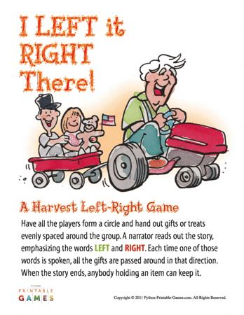 st patricks day left right pass the presents story game harvest left right story printable games