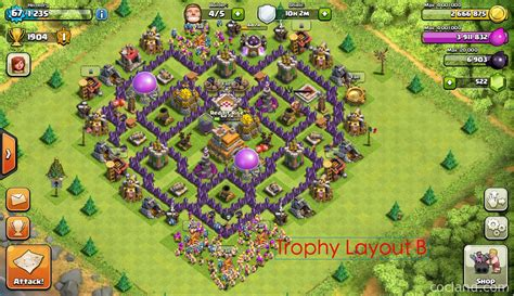 layout design coc th 7 the mantis best base layout for town hall 7 clash of clans