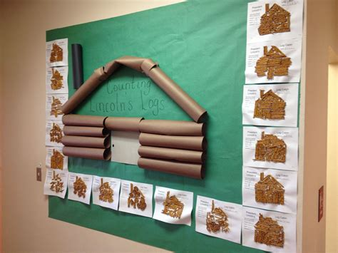 Log Cabin Boards by Lincoln S Log Cabin Math Activity And Board Classroom