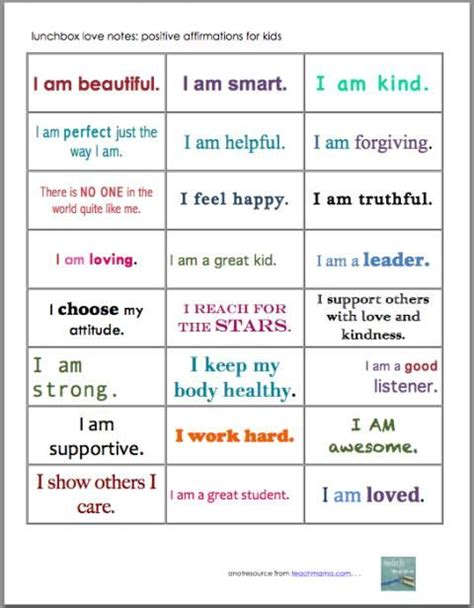 27 Positive Self Affirmations For 11 Aspects Of by 95 Best Self Esteem Activities Images On Self