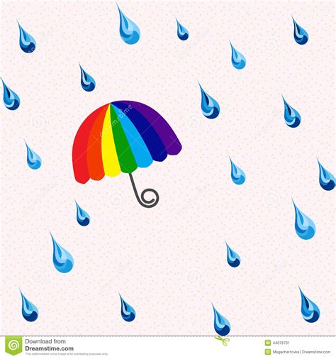 umbrella pattern raincoat seamless rain and rainbow umbrella pattern stock vector