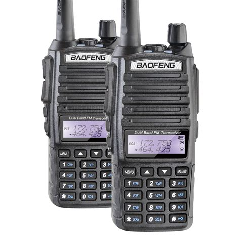 Baofeng Walkie Talkie Dual Band Two Way Radio 5w 128ch Fm A52 2pcs baofeng pofung uv 82 walkie talkie dual band two way radio ptt portable radio uv