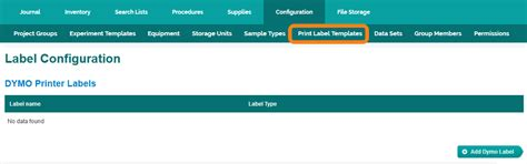 Configuring Labels Diversified Biotech Label Template