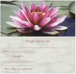 Lotus Flower Gift Lotus Flower Non Folded Gift Certificate General