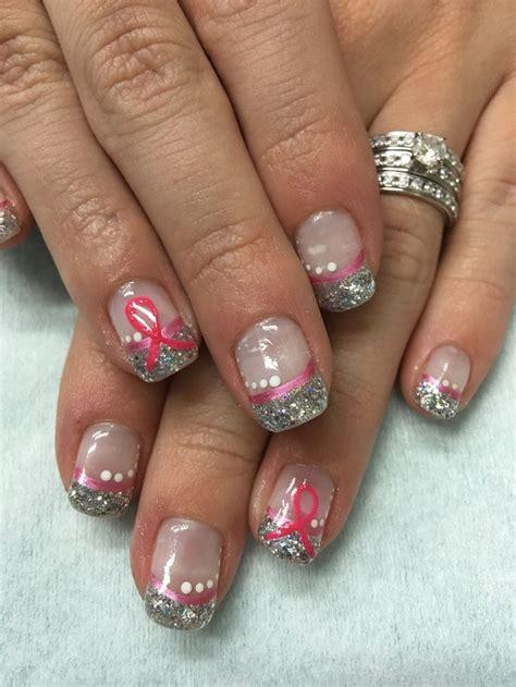 Ribbon Nail Glitter 75 best pink ribbon nails images on pink ribbons gel nail and gel nail designs