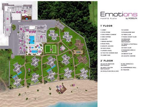 hotel del layout resort map emotions by hodelpa playa dorada d r