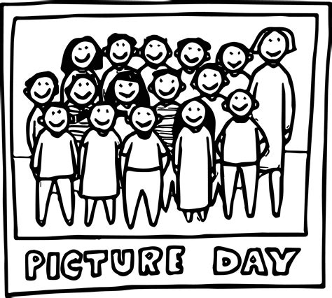 day coloring sheets class picture day color coloring page wecoloringpage