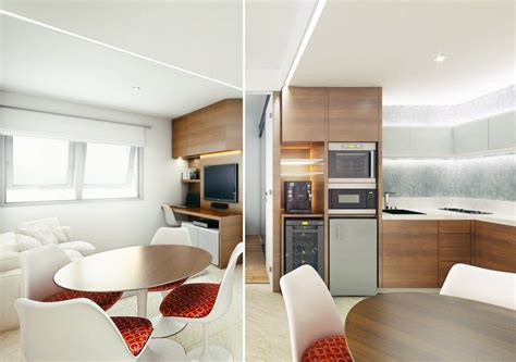 mini apartments small open plan home interiors