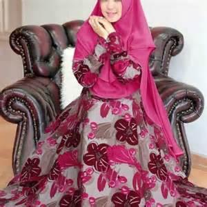Gamis Monalisa gamis monalisa flowy motif bunga baju muslim butik jingga