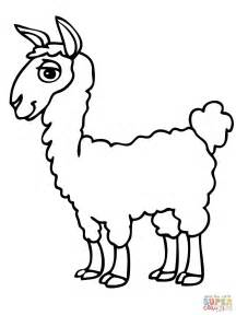 Alpaca Coloring Pages alpaca coloring page free printable coloring pages