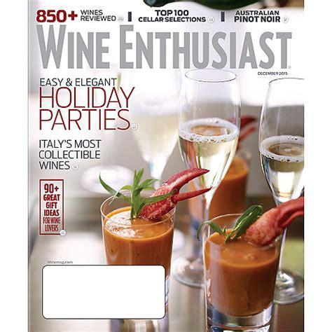 Wine Enthusiast Gift Card - wine enthusiast magazine 1 year wine enthusiast