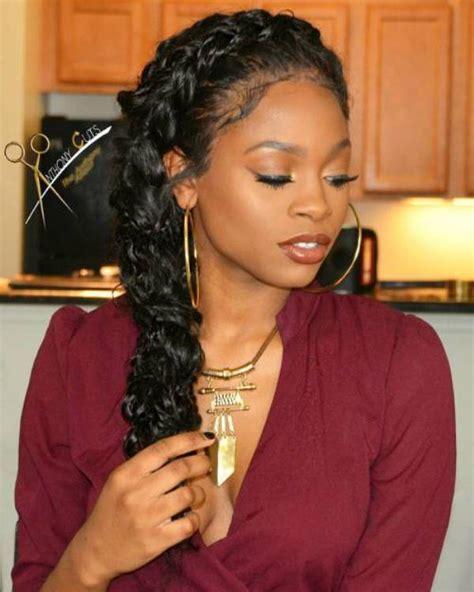 black woman side fishtail braid hairstyles 50 best black braided hairstyles for black women 2018