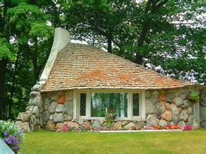 relaxshacks com tiny house eye candy a small stone quot mushroom quot house in michigan