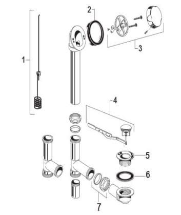 american standard bathtub parts order replacement parts for american standard 1583 universal rotary drain bath