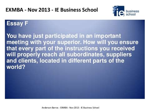 When Can You Call Yourself An Mba Candidate by Ie Express Yourself Exmba Candidate Ie Business School