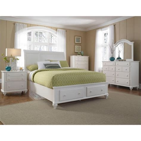 Broyhill White Bedroom Furniture Broyhill Hayden Place Panel Storage Bed 5 Pc Bedroom Set In White 4649 5pc Sleighstoragebed Set