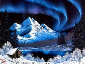 bob ross paintings snow the of painting with bob ross winter mountains