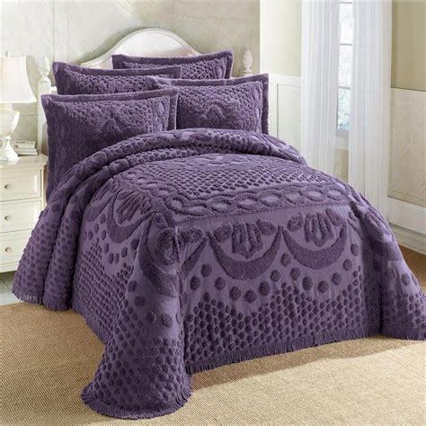 cotton textured chenille lattice medallion bedspread