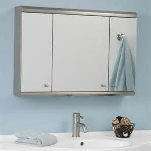 tri fold medicine cabinet lighted mirror medicine cabinet home design ideas