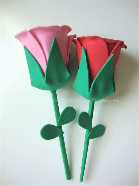 imagenes de flores en goma eva rosas con goma eva manualidades en goma eva