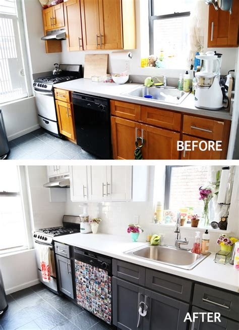 our exciting kitchen makeover before and after green pretty before and after kitchen makeovers noted list