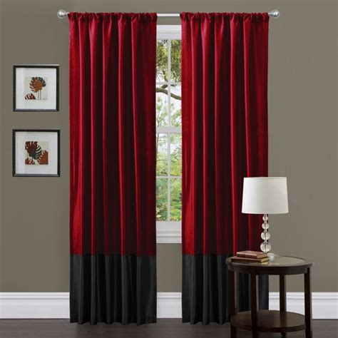 curtains red and black stunning black and red curtains for modern touch atzine com