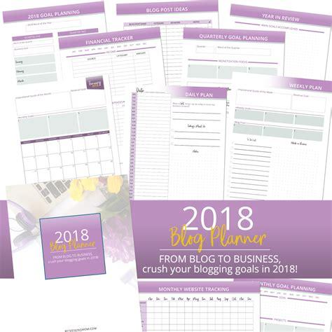 free printable goal planner 2018 free printable 2018 blogging goals planner redefining mom