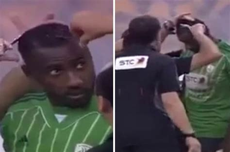 haircuts by sunni hours watch saudi footballer forced to shave anti islamic