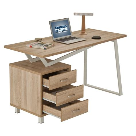 Sand Desk by Techni Mobili Modern Design Computer Desk With Storage In