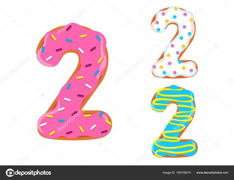 Donuts Number donut font vector number 2 stock vector 169 anitta fed