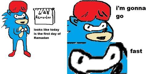 Sonic Gotta Go Fast Meme - sonic ramadan by kumdang 2 on deviantart