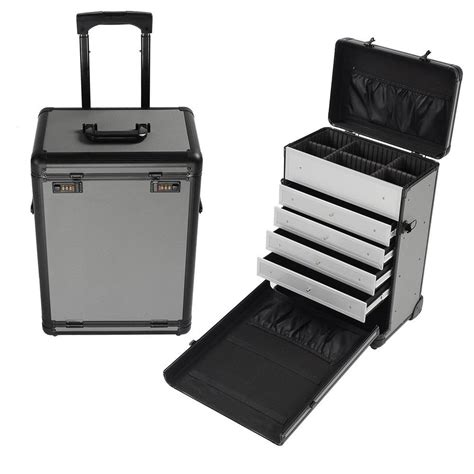 pro makeup case with drawers rolling aluminum makeup case box w drawers lock