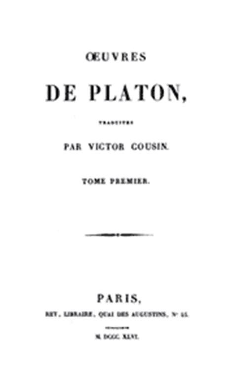 Table des matières Platon