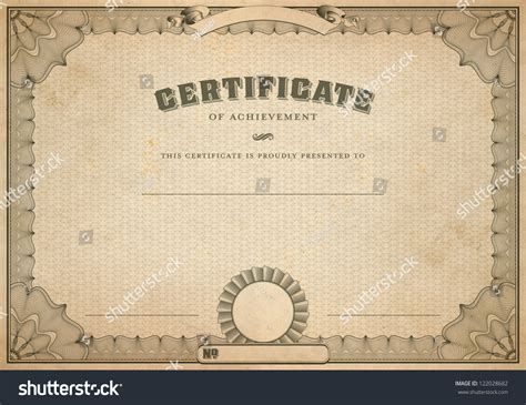 Vintage Certificate Template detailed vintage certificate template with guilloche